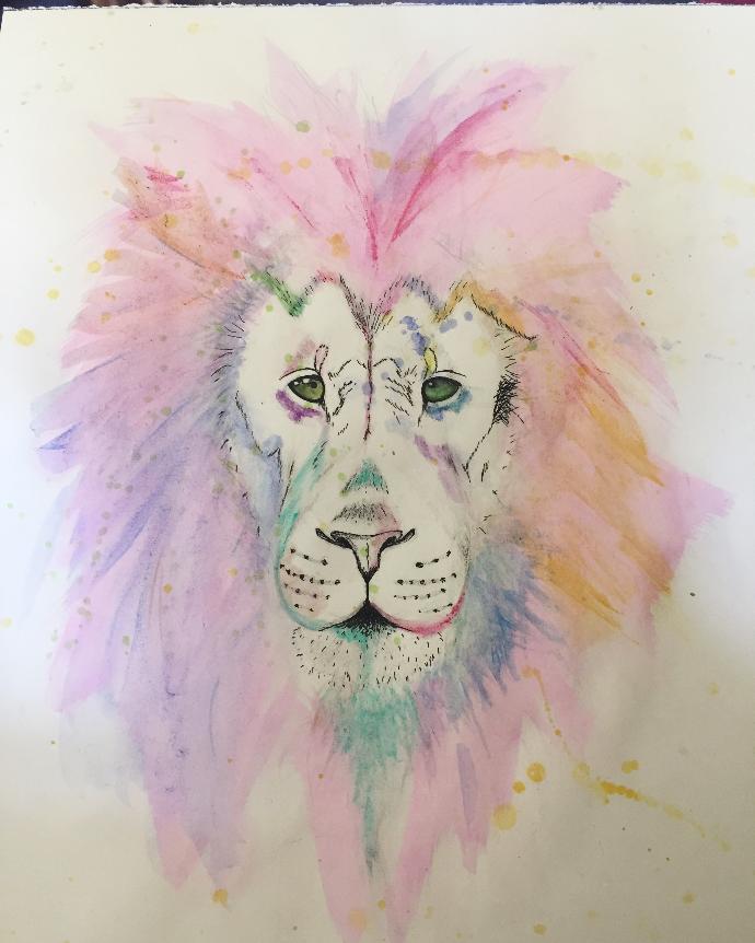 Watercolor Lions?