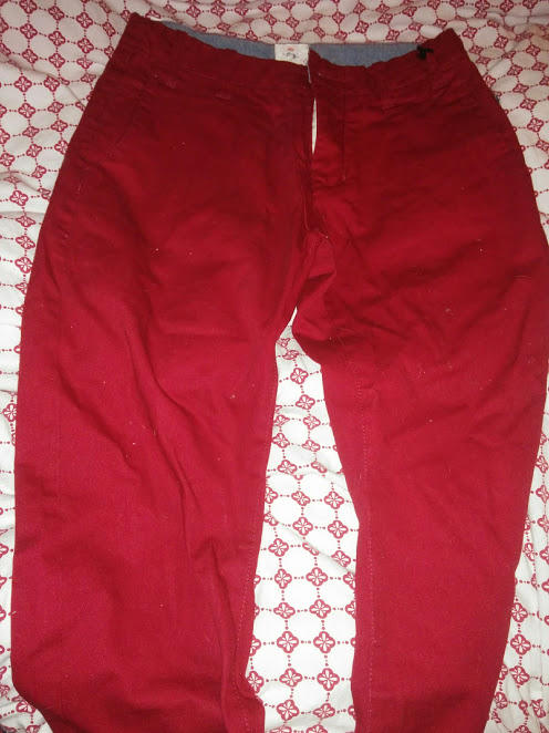 Girls, do you think these red pants look feminine?