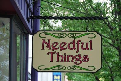 What would you do if you found out Needful Things just opened in your town?