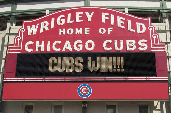 Who's excited for the Chicago Cubs going to the World Series?