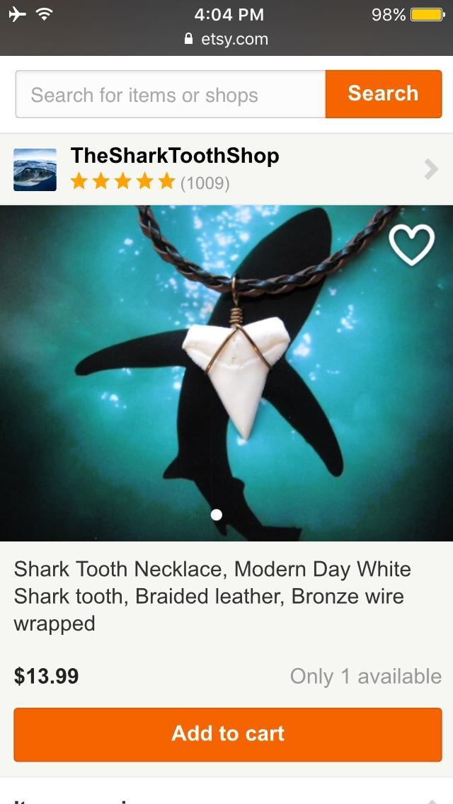 Can a shark tooth necklace make a guy seem more attractive, or at least appear more like a bad boy type?