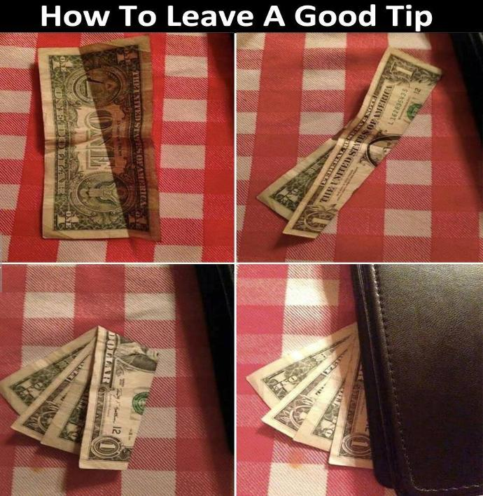 Would you ever leave a tip like this at a restaurant?