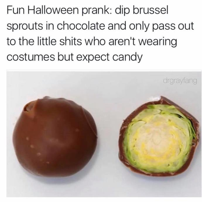 Would it be 'cheeky' to do this for 'trick or treat' for Halloween ( see image )?