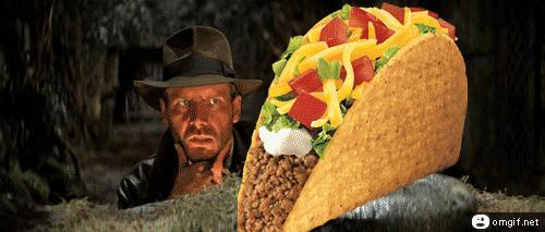 For those of you who had the glorious luxury of eating a taco, do you turn your head or the taco when eating?