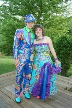 Even though all of the prom outfits are not appealing, which one looks the worst??