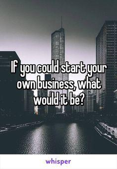 If you could start your own business,what would it be?
