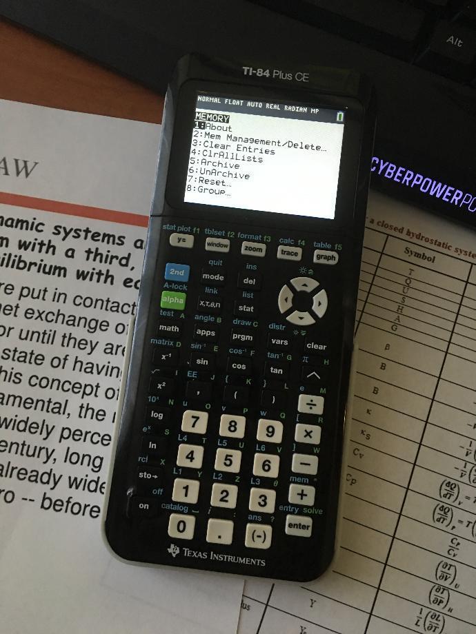 I have a calculator (TI-84 Plus CE) question?