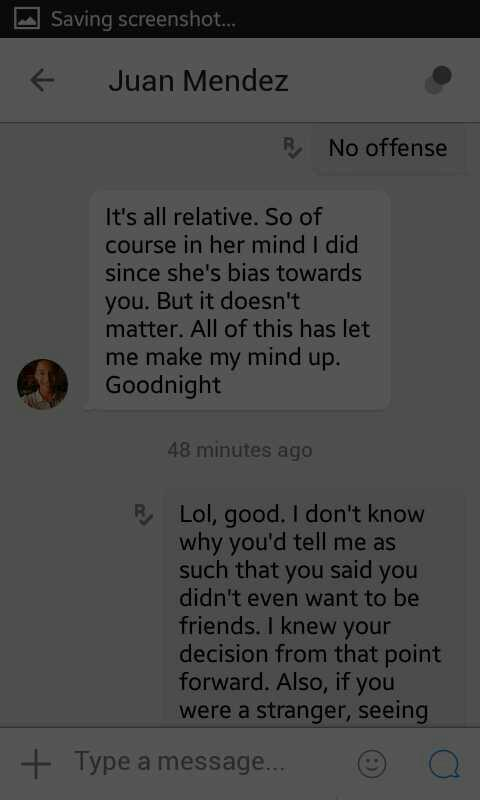 Should I respond after this? (Sorry for darkness, took screenshots with a brightness app running as it was very late in the day)?
