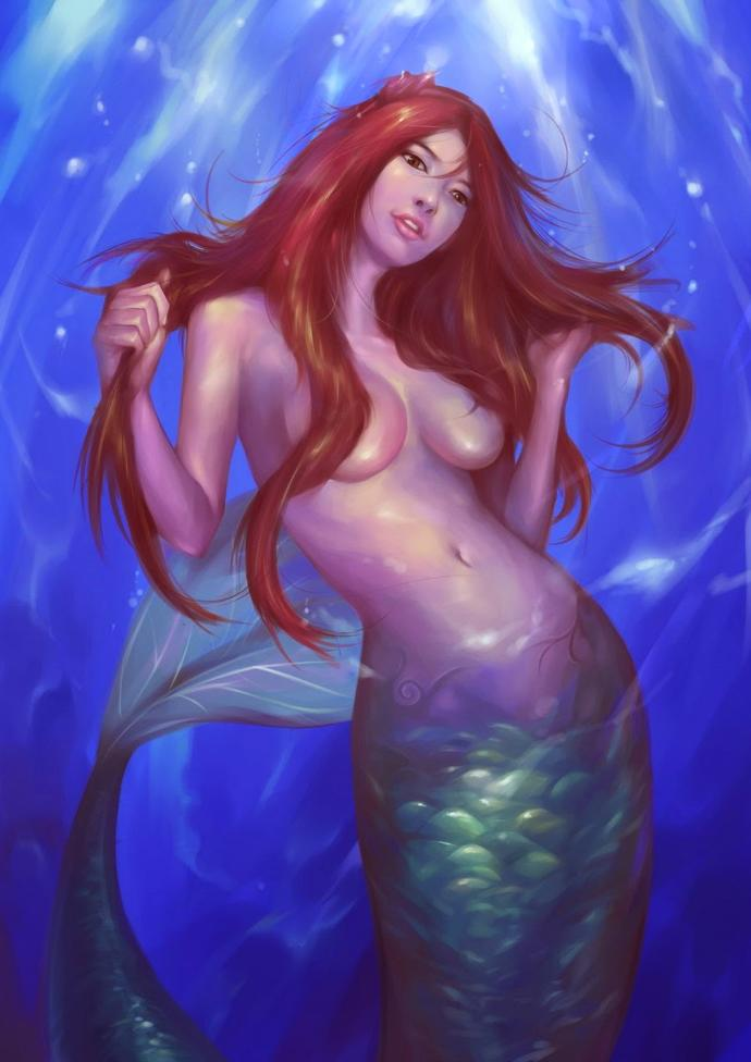 Question for anyone interested in fantasy art, does it ever bother you when fairies, angels and mermaids are drawn with/without clothes?