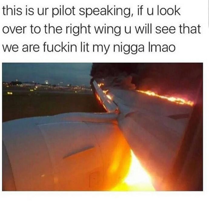 You are on a plane and this happens. What do you do?
