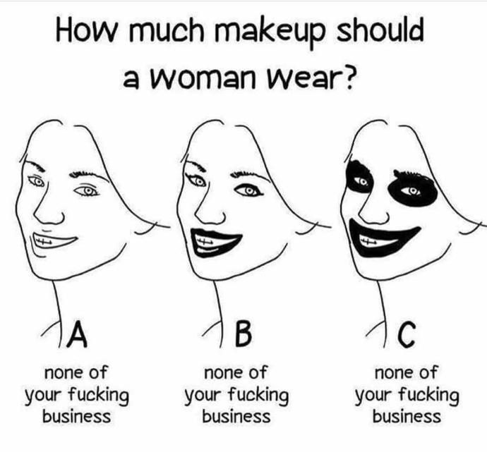 How much makeup should a woman wear?