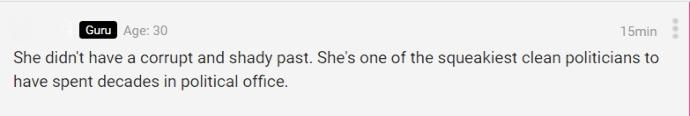 How hard does this comment on Clinton make you laugh?