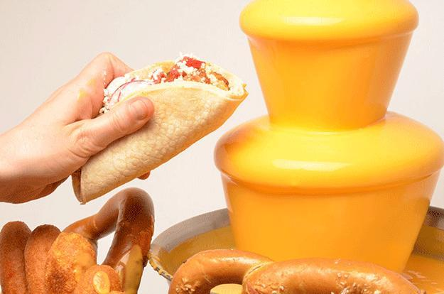 What would you do if you had a nacho cheese fountain at your disposal?