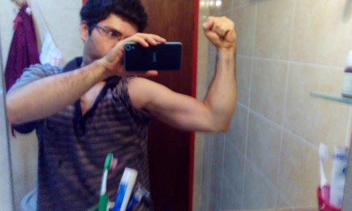 Does my arm really look like I don't lift weight?