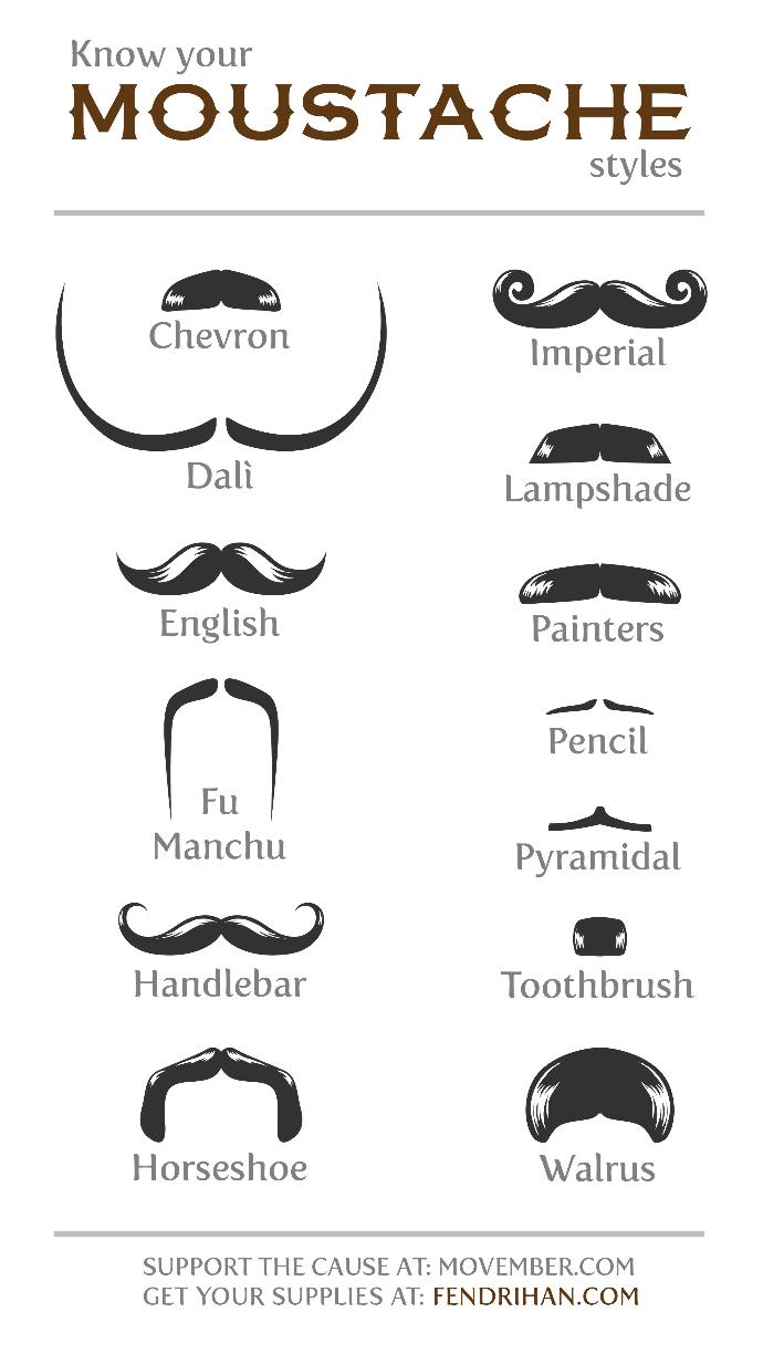 What type of mustache should I grow for Movember?