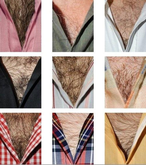 Lot of chest hairs peeking out, GROSSEST thing for you?