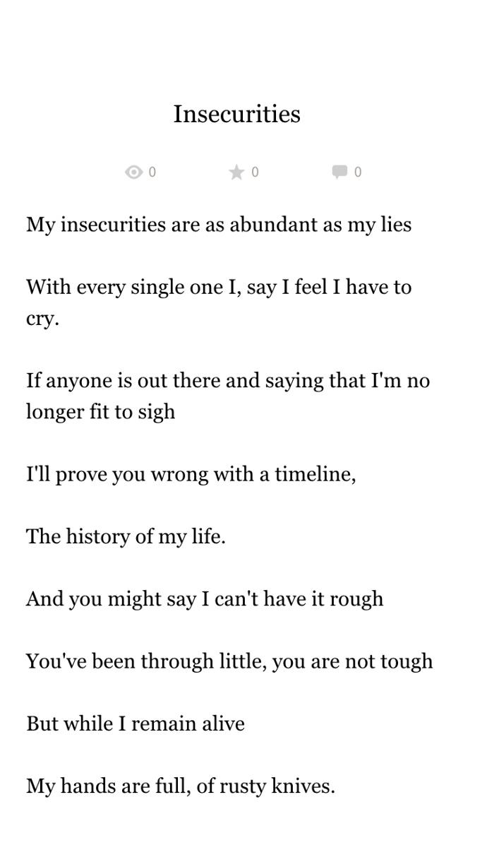 Are my poems good?
