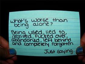 If someone is used or mistreated by a person they're dating, is it the victim or users fault?