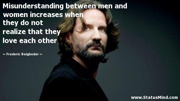 What are main reasons of misunderstandings between men and women?