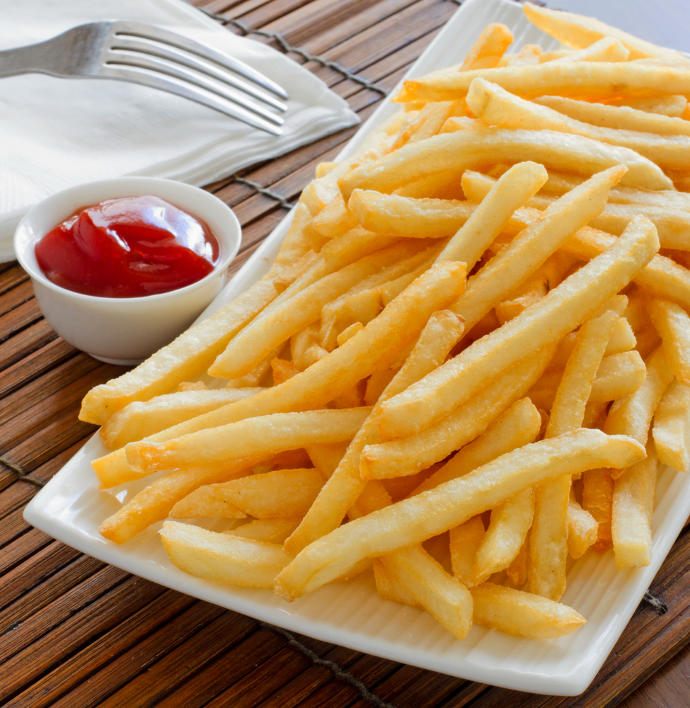 French Fries with ketchup or without?