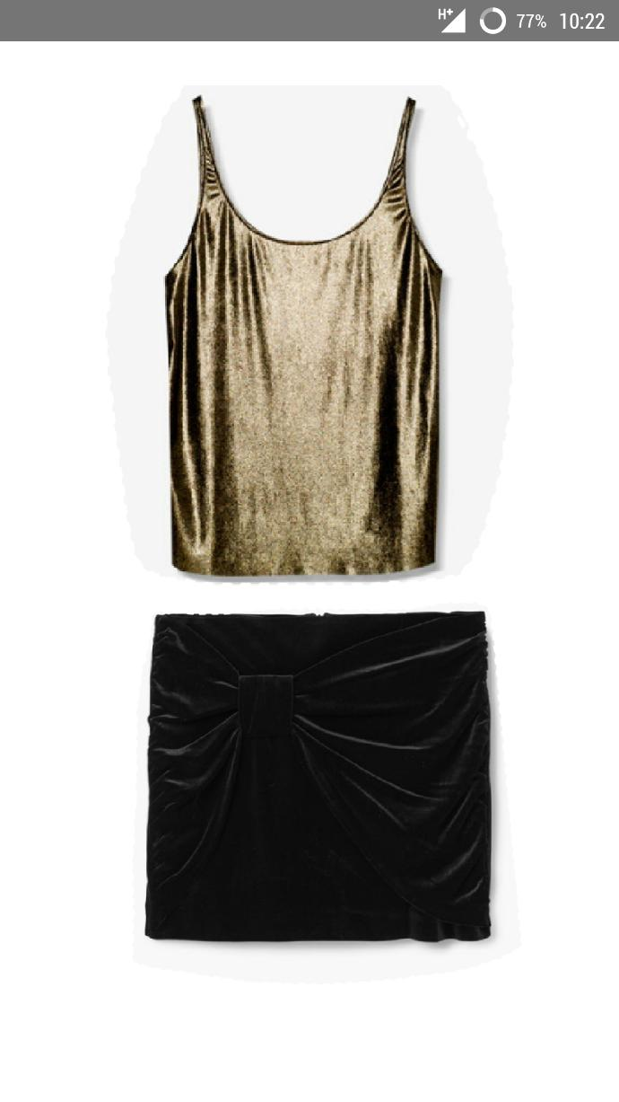 Your opinion on the velvet skirt and shiny top for NY eve party?