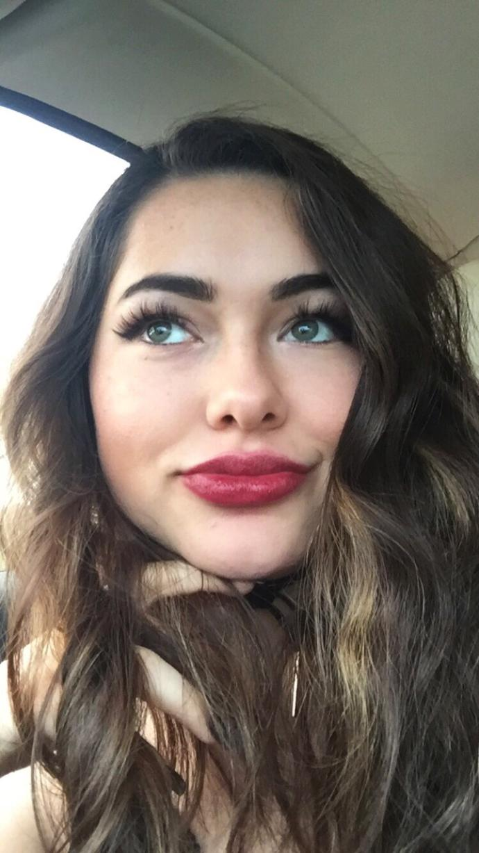 do you think i can pull off this dark red lip?(pics included)?