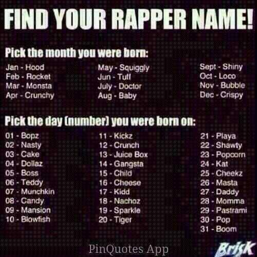 What is your rapper name?