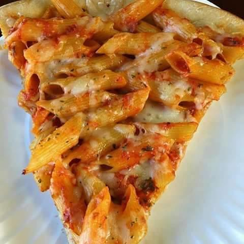 Have you ever tried pasta topping on pizza?