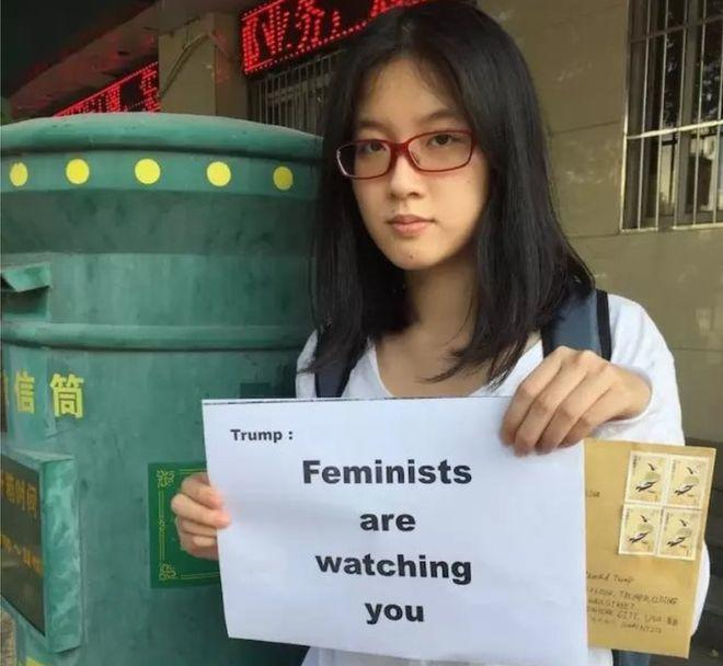 Chinese Feminists call out Trump and his supporters as having