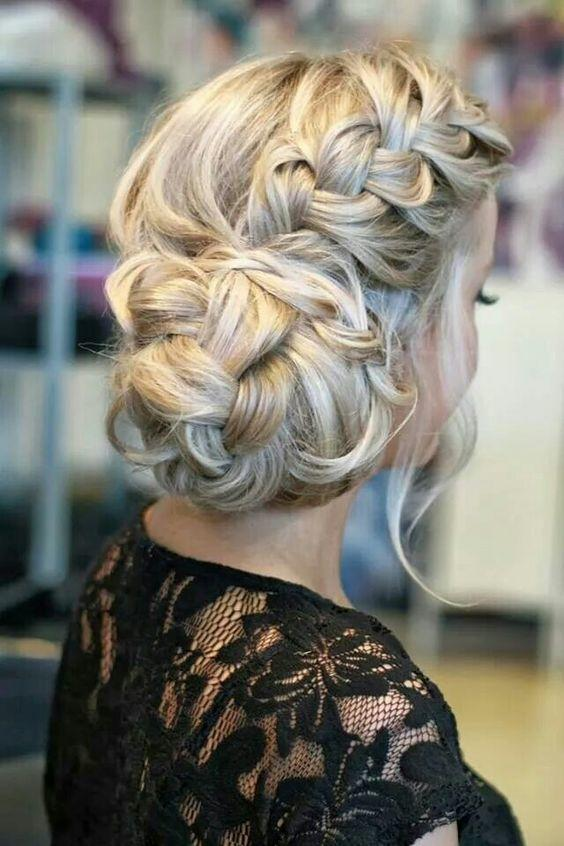 What hair do you like with this dress?