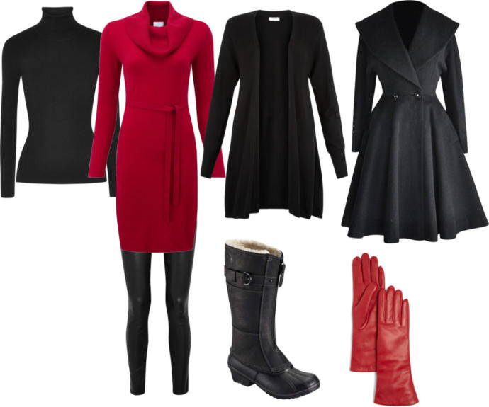 Which outfit is best for New Years party *outside*?