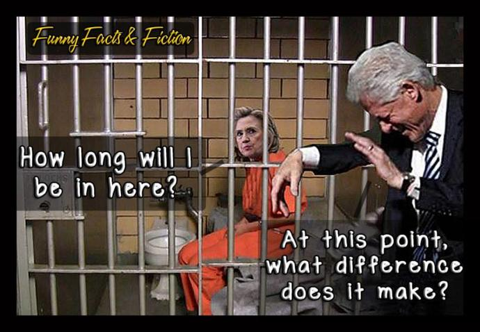 How many years in Prison should Hillary get for her many crimes and corruptions?