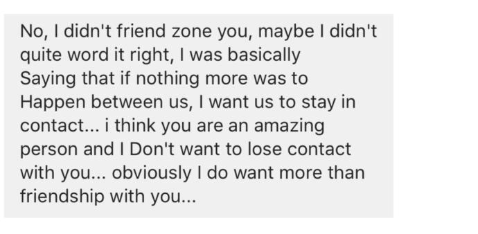 See picture attached: am I friendzoned or what? Wtf?