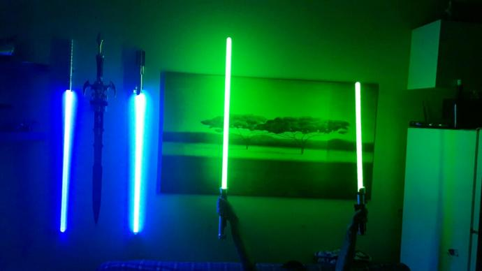 from any of the cartoons or movies who's  lightsaber is your favorite??