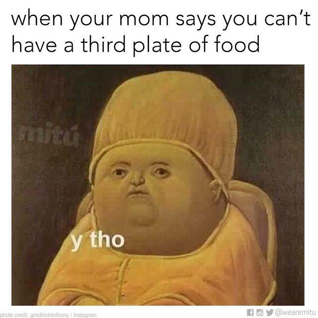 How many plates of food can you eat? Or does it just depend on the meal?