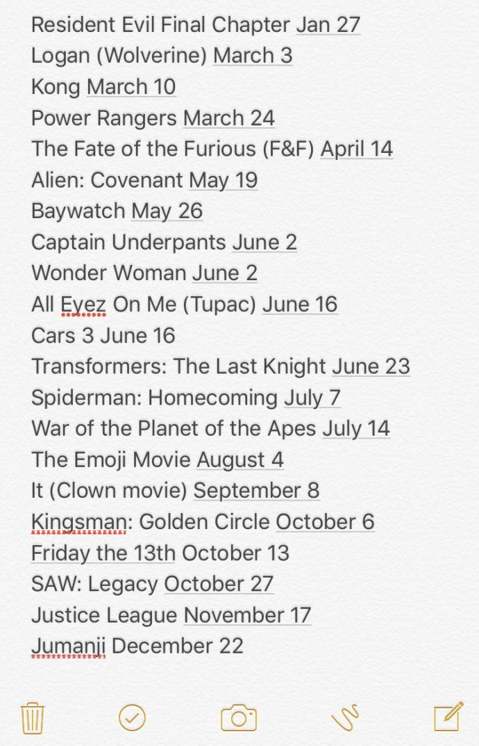 What movies are you excited to see this year?