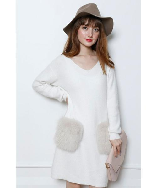 which cashmere knit dress is cuter ?