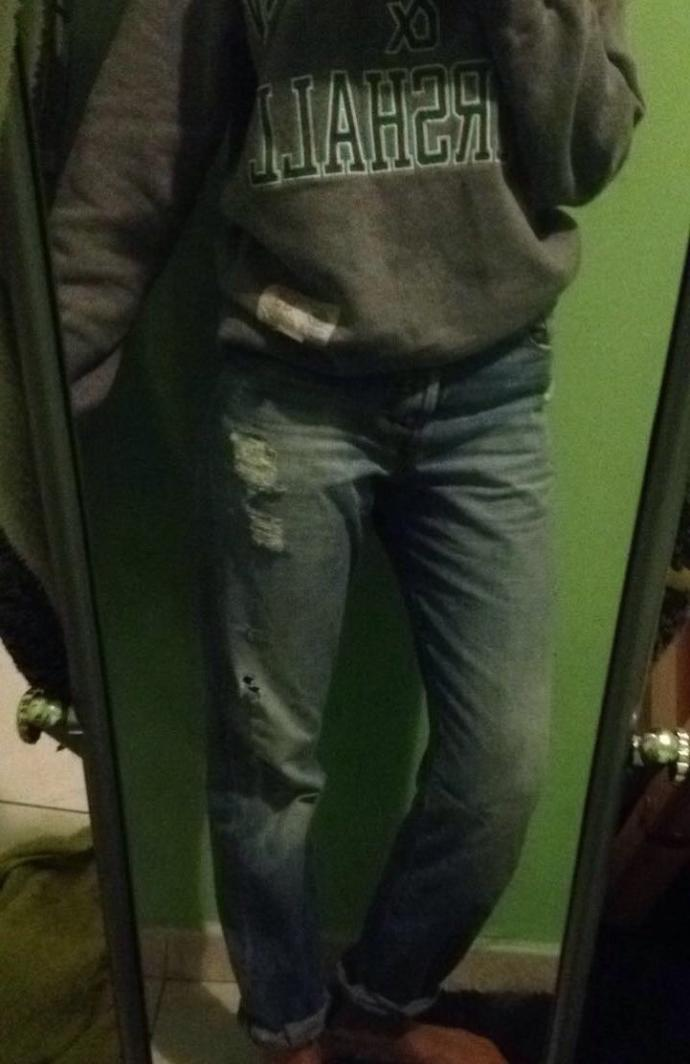 are this boyfriend jeans too baggy??