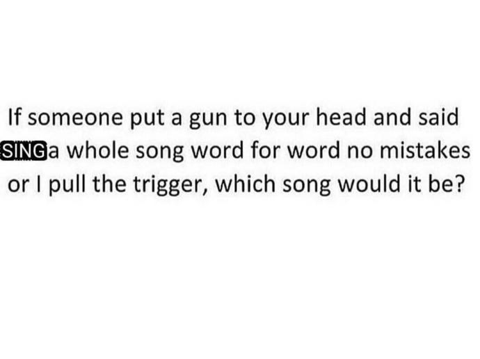Which song would it be?