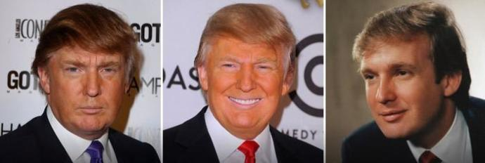 Is Donald Trump redhead, blonde or brunette?