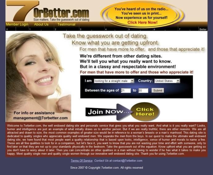 Would you be able to join this dating site?