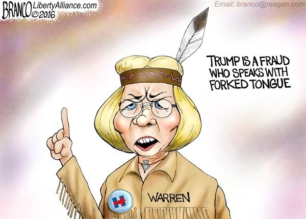Was Trump right to call Elizabeth Warren Pocahontas because she lied to get a $350,000 job by pretending to be Native American?