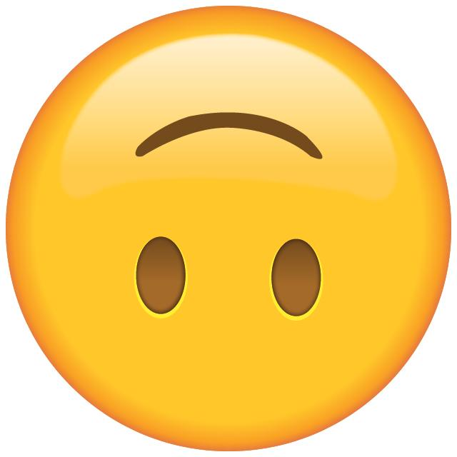 What does the upside down smiley face emoji mean