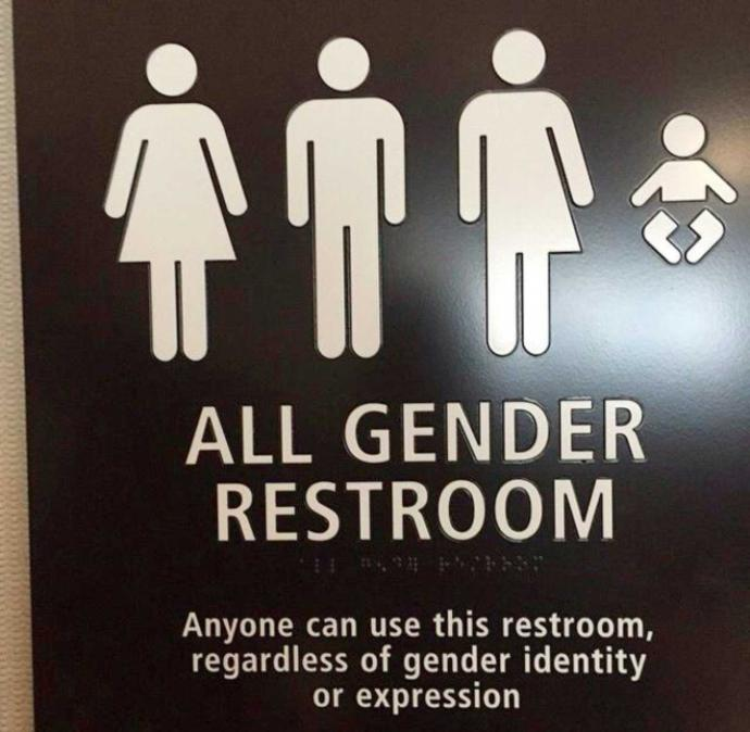 gender mutual bathrooms??