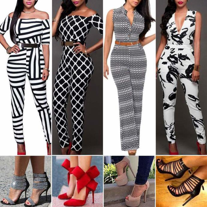 Jump Suits and shoes 1, 2, 3 or 4 ?