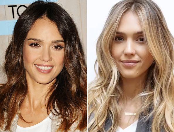 Which do you prefer on a natural brunette - her darker hair color or lightened hair?