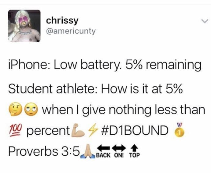 Which student athlete meme is the funniest?