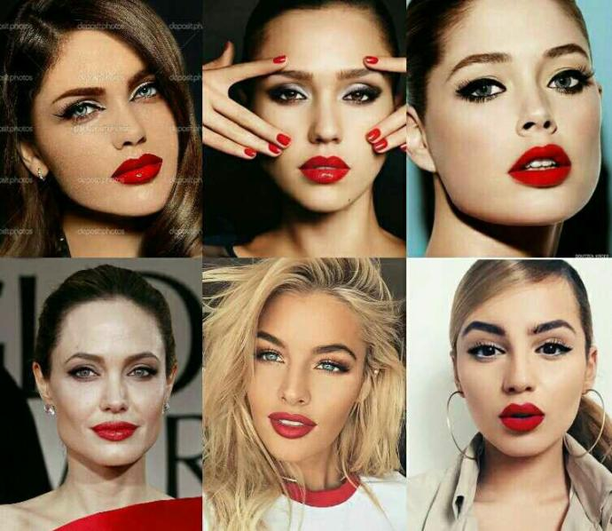 what lip size is the ideal for sexy red lips?