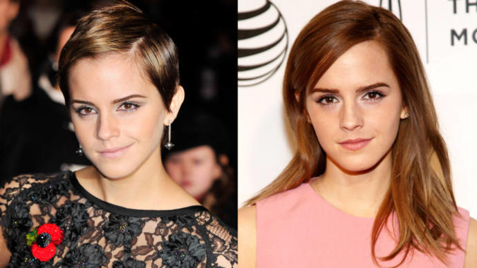 How attractive do you find Emma Watson with long hair vs a pixie?