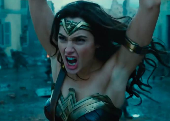 Do you think it's offensive that Wonder Woman does not have any armpit hair in this pic?